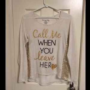 """""""Call me when you leave her!"""" Funny sassy shirt!"""